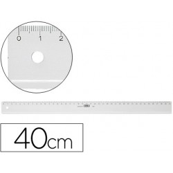 REGLA M+R 40 CM PLAST TRANSP