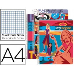 CUAD ESP LP A4 80H CUAD 5MM...